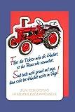 Landwirt Geburtstag Karte Grußkarte Roter Traktor Bauer 16x11cm
