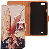 Lankashi PU Flip Funda De Carcasa Cuero Case Cover Piel Para ZOPO C2 ZP980 ZP980+ Wings Girl Design