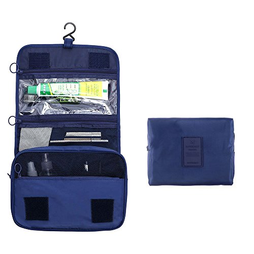 Arxus Kulturbeutel Portable Waterproof Kit mit Kosmetik Make-up Tasche Travel Set (Marine Blau) (Navy Rasiermesser)