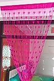 Handloomwala Beautiful Pink Summer Heart Net Curtain