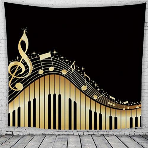 Impresión europea de la nota musical tapiz de fondo decoración de la pared de tela , 2 , 150*200