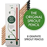 Sprout Bleistifte |8er Set| aus unbehandeltem Bio Naturholz und bleifreien Minen|Graphit-Stift zum Pflanzen