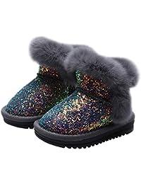 LPATTERN Bambini Ragazza Stivali da Neve Stivaletti Pelliccia Calde Boots Scarpe  Invernali per Neonati adc657ad3bf