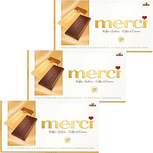 merci Kaffee Sahne Schokolade 3er Set (3x100g Tafel)