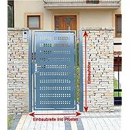 Pforte Gartentor Pulver Grau Hoftor Einfahrtstor Tür Tor Törchen 125cm x 150cm