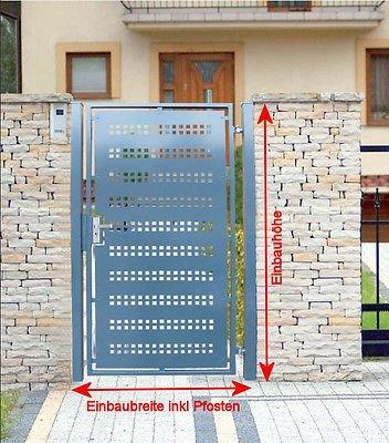 Pforte Gartentor Pulver Grau Hoftor Einfahrtstor Tür Tor Törchen 125cm x 180cm