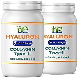 BioCell® 120 Hyaluronsäure Kollagen-II Kapseln, hochdosiert 1000mg Collagen/Tag Haut Haare Gelenke von NP-Vital (2×60 Kapseln)