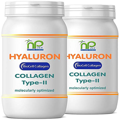 Biocell Collagen® oder Collagen Express Kapseln (mit Collagen-II, Hyaluronsäure, Vitamin-C und Mangan) 1000mg Collagen/Tag für Haut, Haare, Gelenke von NP-Vital (120 Biocell Collagen® Kapseln) - Großen, Glatten Gesicht