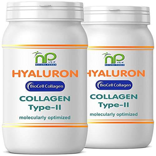 BioCell® 120 Hyaluronsäure Kollagen-II Kapseln, hochdosiert 1000mg Collagen/Tag Haut Haare Gelenke von NP-Vital (2x60 Kapseln)