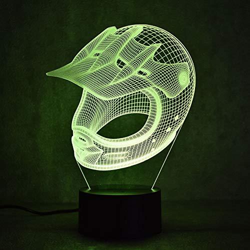 Schöne 3D Led Visuelle Bunte Lichter Usb Tischlampe Schlafen Nachtlicht Neue Spezielle Hut Hut Licht Junge Dekoration Geschenk (Zug Hüte Für Kinder)