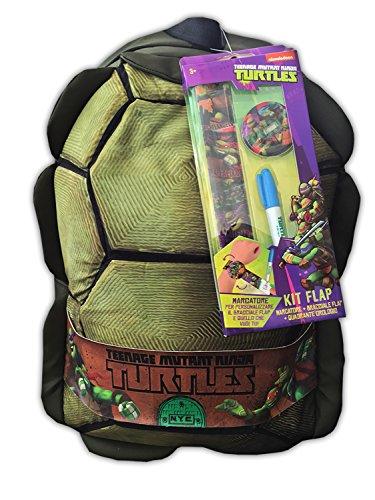 Zaino guscio tartarughe ninja + astuccio