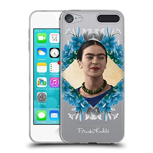 Head Case Designs Offizielle Frida Kahlo Liliy Kranz Portrait 2 Soft Gel Hülle für Apple iPod Touch 6G 6th Gen (Soft Touch Kranz)