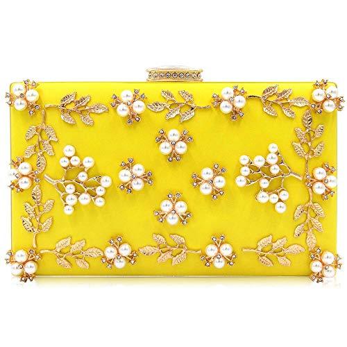 RMXMY Moda para Damas de Lujo Bolso de Embrague Bolso de Perlas...