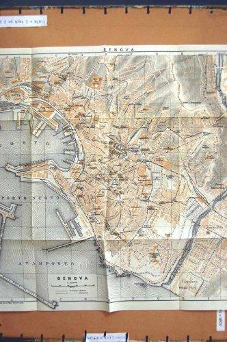 citta-1928-di-pianificazione-della-via-della-mappa-genova-italia-oporto-nuovo