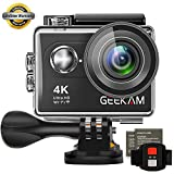 GeeKam Digital Video Action Camera Ultra HD WIFI Underwater Waterproof Sports Cam Camcorder 170 Degree Wide Angle Remote Control and 2 Rechargeable 1050mAh Batteries with Accessories Kit (S9R)