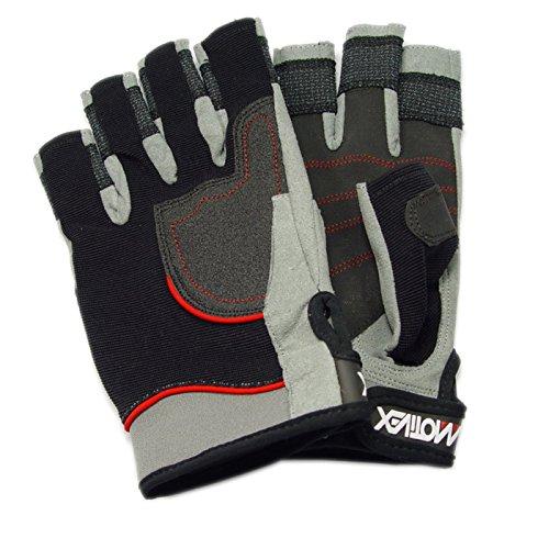 MOTIVEX Segelhandschuhe Rückseite Elasthan, beschichtete Handflächen, Kevlar verstärkte Finger, Größe L