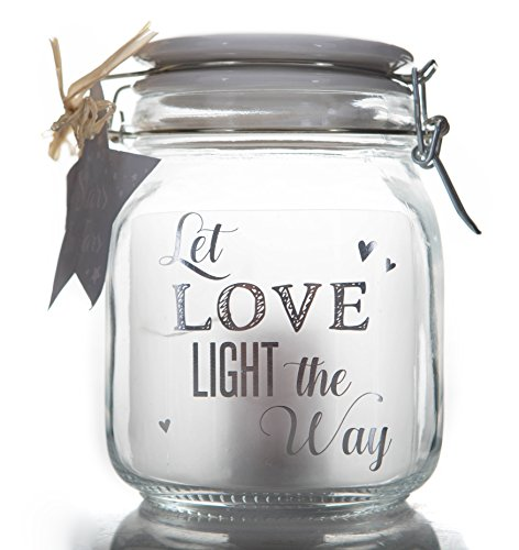 Boxer Gifts Stars in Jars Let Love Light The Way, silberfarben