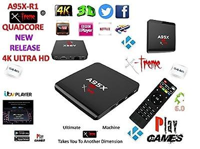 Android Tv Box Fully Xtreme 2018 Pro Plus Kodi tv boxes KODI 17.6 ultimate machine takes you to another dimension 4X CPU Marshmellow 7.1 AMLOGIC s905 cortex A53 64BIT 2Ghz Wifi 4K UHD H.265 Lan smart tv box quad core 8GB 2GB ULTRA HD Ethernet port, wifi p