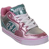 Heelys Silver and Light Pink X2 Motion Plus Skate Shoes - Size 7 by Heelys