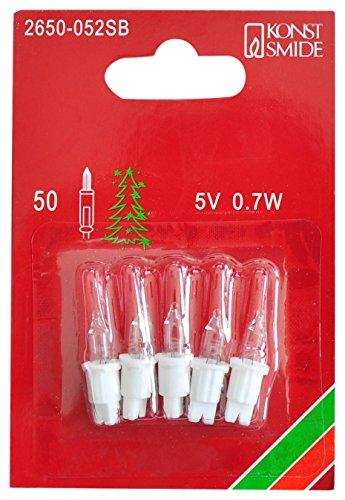 Preisvergleich Produktbild Konstsmide 2650-052SB Ersatzbirne / für Minilichterketten / 5V,  0, 7W / 5er Blister / weiße Steckfassung
