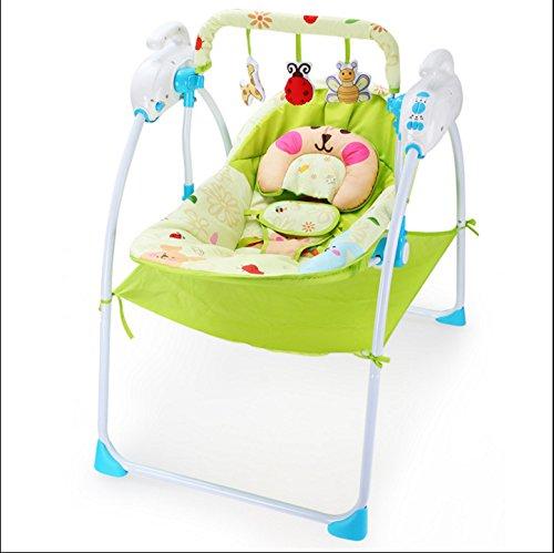 NWYJR Kleinkind Rocker Neugeborene Tragbare Geeignet Vibration Elektrischer Multifunktions Appease Musik-Baby-Wippe Bouncer (Tier Baby Bouncer)
