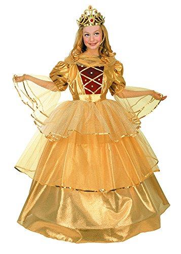 Prinzessin-Kostüm gold 10 - De 8 a 10 ()