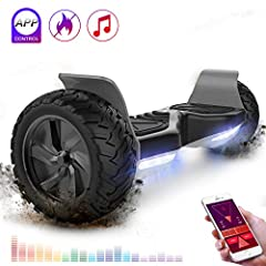 Idea Regalo - RCB Hoverboard Scooter elettrico fuoristrada Scooter 8.5 '' Hummer LED APP Bluetooth integrato con motore potente 2 * 350W