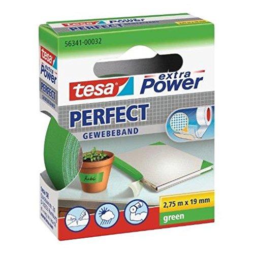 tesa Gewebeklebeband extra Power Gewebeband 2,75 mx19 mm grün