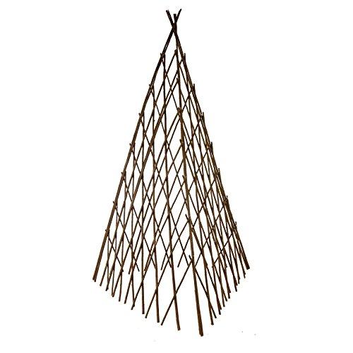 Rankhilfe in Pyramidenform aus Weide H 90 cm, flexibel