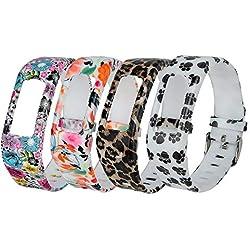 Bracelet de rechange en silicone Fit-power, pour Garmin Vivofit (bracelet uniquement), Pack of 4F