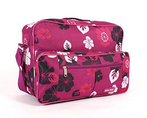 Schulter-Tasche, für Handgepäck in der Flugzeugkabine, Reisetasche, 40,6cm Violett - Fuchsia Floral