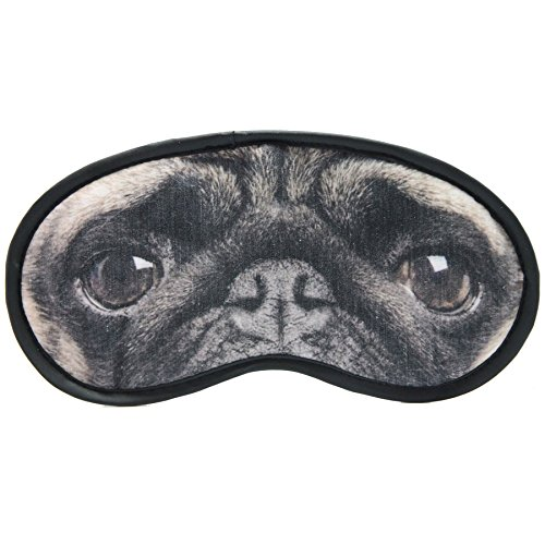 Pug Dog Eyemask Comfortable Fun Travel Gift