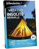 Wonderbox – Coffret cadeau Famille - WEEK-END INSOLITE EN FAMILLE – 340 séjours en cabane, tipi, yourte, roulotte, bulle, eco-lodge pour 3 à 6 personnes