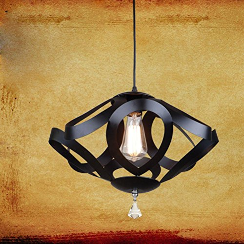 the-ceiling-geometry-restaurant-interior-decorative-wrought-iron-chandelier-black-420h290mmblack-420