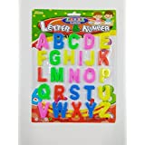Gold Leaf (Pack Of 1) Magnetic Learning Letters Alphabets And Numbers, Premium Quality ABC And 123 Educational Magnets With Mathematical Symbol For Kids, Multicolor (Capital Letters)