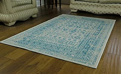 Isfahan Distressed/Vintage/Oriental Traditional Bordered Rug - low-cost UK light store.