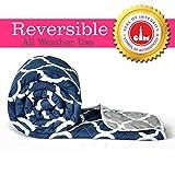 Divine Casa Microfibre Comforter/Blanket/Quilt/Duvet Lightweight, All Weather, Reversible Single Comforter, Navy Blue