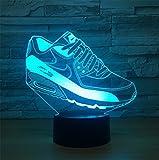 MYY 3D Kreativ Schuh Nachtlicht Lampe 7 Farbänderung LED Berühren USB Kinder Spielzeuge Dekorationen Weihnachten Valentines Geburtstag Geschenk,Remote