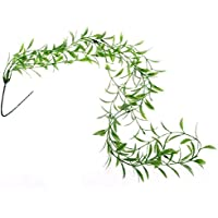 Plante artificielle feuille de saule en plastique décor pour Reptiles et Amphibiens
