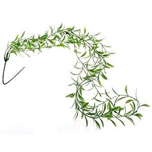 Plante artificielle feuille de saule en plastique d cor for Amazon plante artificielle