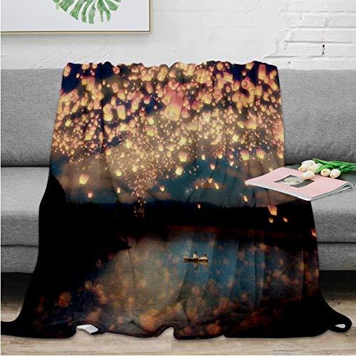 Throw Blanket Love Wish Lanterns Throw Blanket Warm Microfiber Blanket Blanket Mantas...