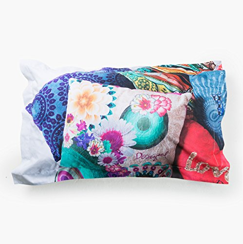 Taie d'oreiller rectangulaire 50x80 MESSY BED LEFT - DESIGUAL