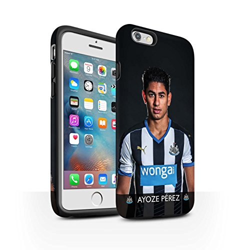 Offiziell Newcastle United FC Hülle / Matte Harten Stoßfest Case für Apple iPhone 6+/Plus 5.5 / Pack 25pcs Muster / NUFC Fussballspieler 15/16 Kollektion Ayoze