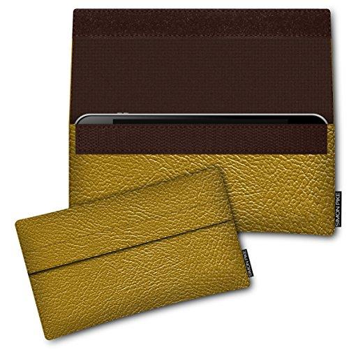 SIMON PIKE Kunstleder Tasche Newyork, kompatibel mit Siswoo i7 Cooper, in 02 Gold Kunstleder