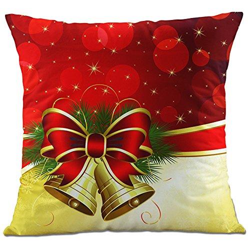 c9769e38e1 Hangood Divano Federa Cuscini Flanella Decorazioni per la Casa Natale  Jingle Bell 45cm x 45cm