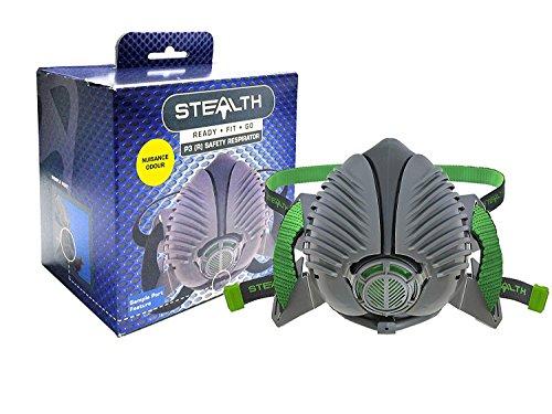 Stealth Wiederverwendbar Halbmaske P3Sicherheit Atemschutzmaske–Für Staub, Schweißen & Liquid Mists–mit 2x P3(R) Spannbettlaken Filter