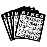 18 Black Bingo Cards with Unique Numbers by Royal Bingo Supplies by Royal Bingo Supplies