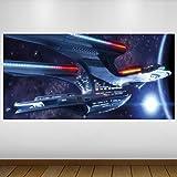 LagunaProject Extra Grande Blue Star Trek Cultura Empresarial Vinilo Póster - Mural Decoración - Etiqueta de la Pared -140cm x 70cm