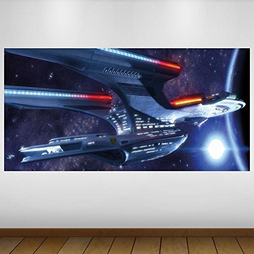 51EM2DYySqL - LagunaProject Extra Grande Blue Star Trek Cultura Empresarial Vinilo Póster - Mural Decoración - Etiqueta de la Pared -140cm x 70cm