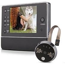 "3,5"" Videoportero Mirilla de Puerta Interfono con video Peephole Timbre Digital Camara TFT Pantalla LCD 3LED telefonillo inalambrico"